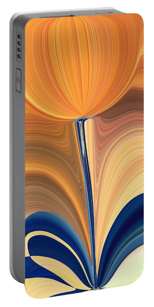 Bloom Portable Battery Charger featuring the digital art Delighted by Tim Allen