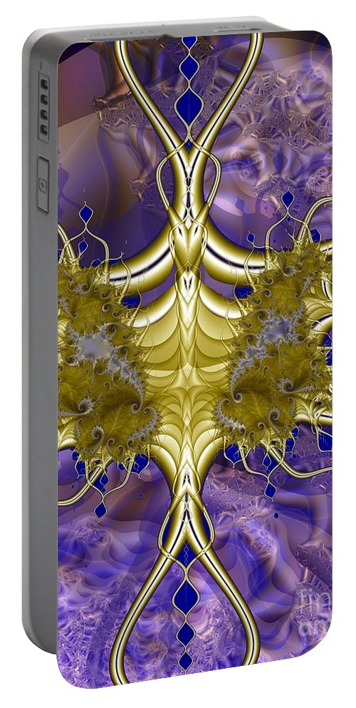 Dermaptera Portable Battery Charger featuring the digital art Demaptera Forceps by Ron Bissett