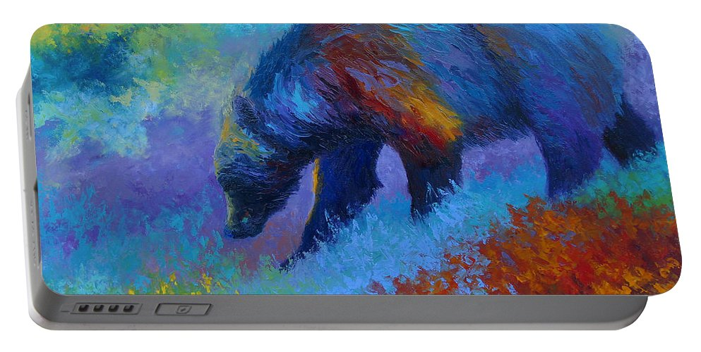 Western Portable Battery Charger featuring the painting Denali Grizzly Bear by Marion Rose