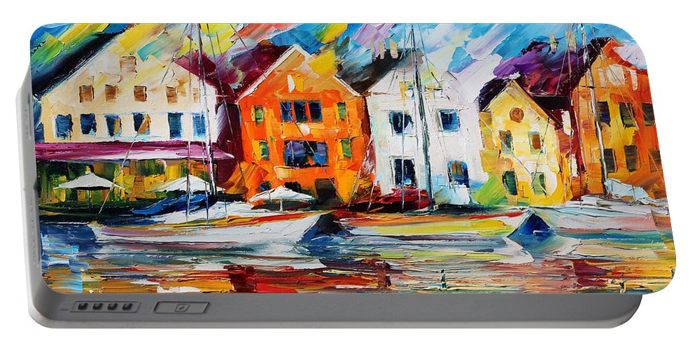 Afremov Portable Battery Charger featuring the painting Denmark by Leonid Afremov