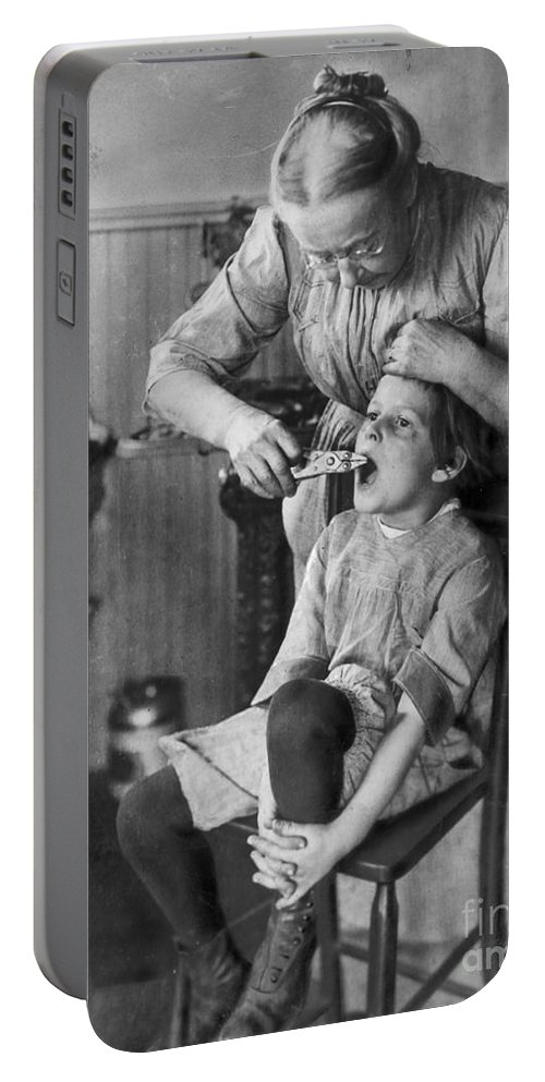 1920s Portable Battery Charger featuring the photograph Dentistry, 1920s - To License For Professional Use Visit Granger.com by Granger