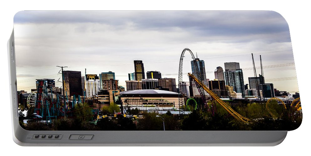 Cityscape Portable Battery Charger featuring the photograph Denver by Angus Hooper Iii