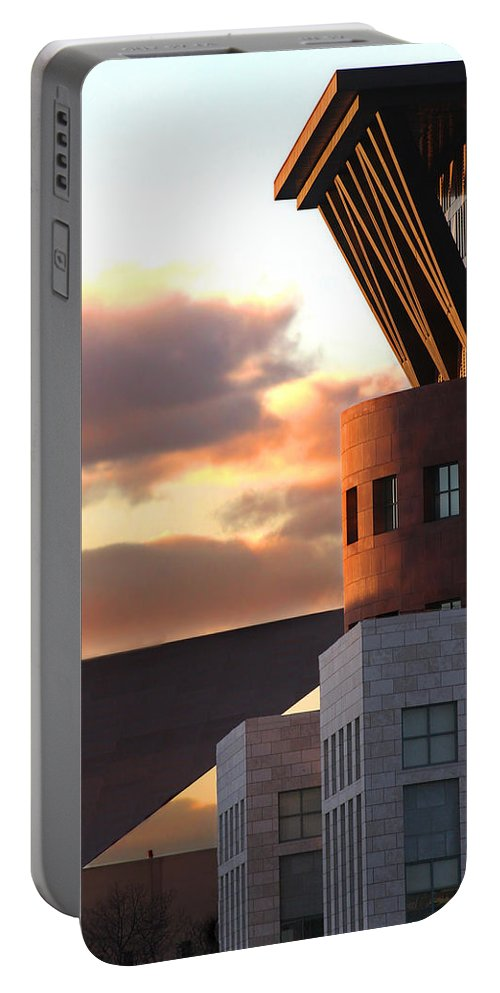 Denver Portable Battery Charger featuring the photograph Denver Art Museum And Library by Jeffery Ball