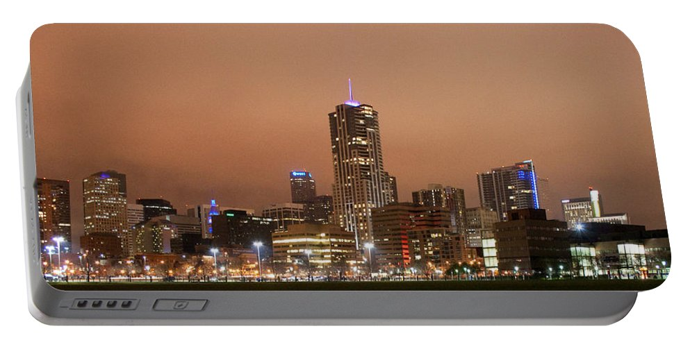 Cityscapes Portable Battery Charger featuring the photograph Denver From Auraria Campus by Angus Hooper Iii