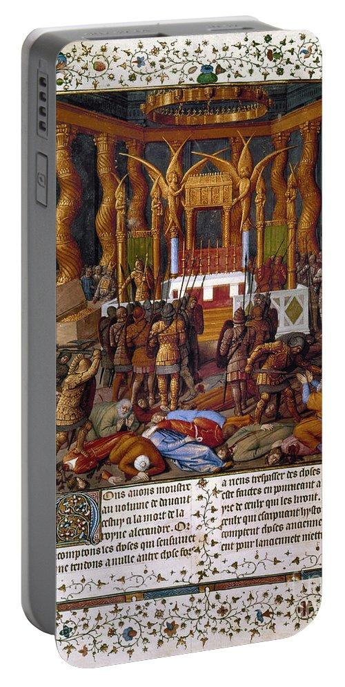 15th Century Portable Battery Charger featuring the photograph Deportation Of Jews by Granger