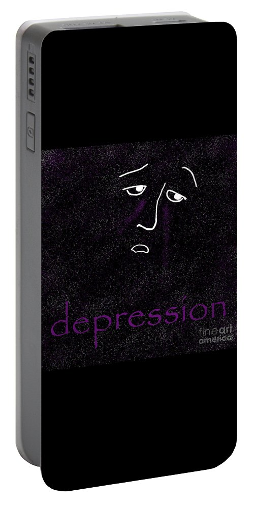 Depression Portable Battery Charger featuring the digital art Depression by Methune Hively
