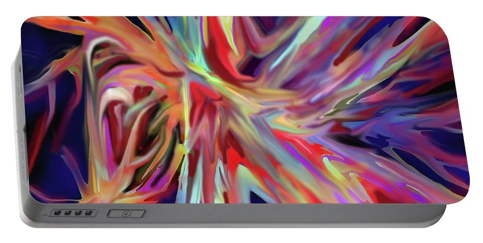 Abstract Portable Battery Charger featuring the digital art Depth And Color by Ian MacDonald