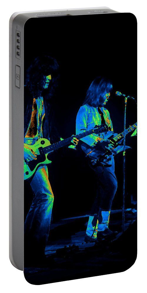 Derringer Portable Battery Charger featuring the photograph Derringer 77 #48 Enhanced In Cosmicolors by Ben Upham
