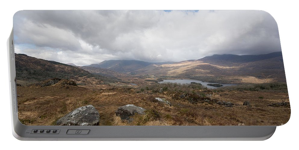 Derrynablunnaga Portable Battery Charger featuring the photograph Derrynablunnago, Ireland by Smart Aviation