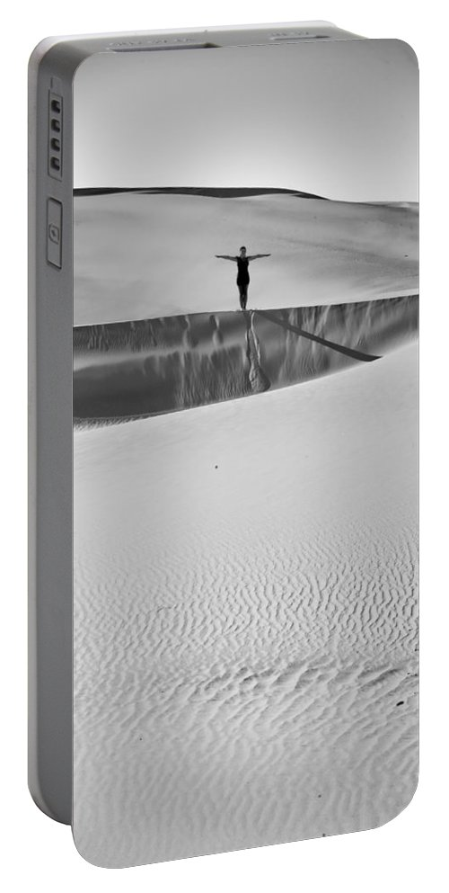 Sand Dunes Portable Battery Charger featuring the photograph Desert Austerity by Scott Sawyer