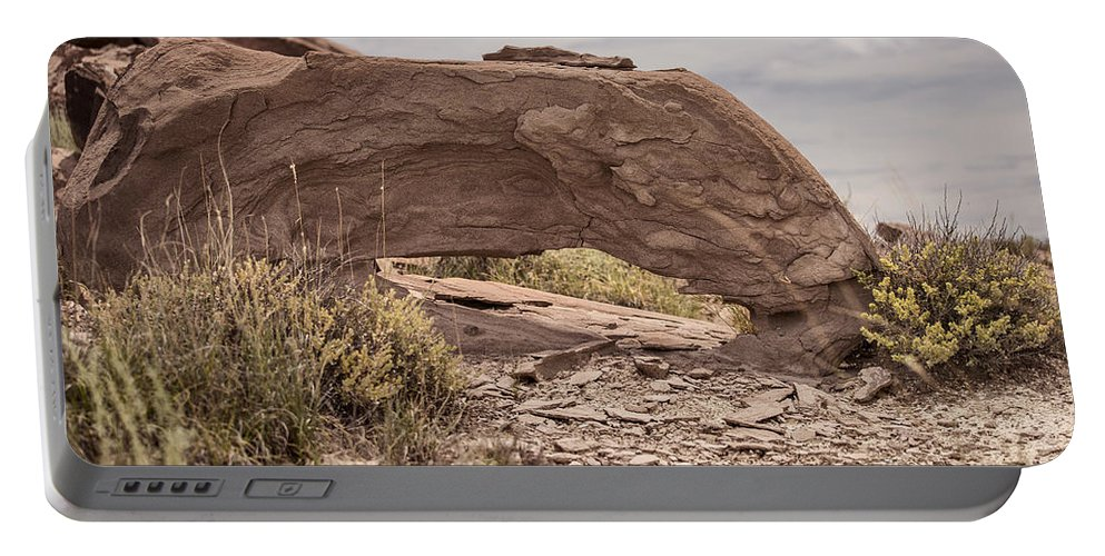 Landscapes Portable Battery Charger featuring the photograph Desert Badlands by Melany Sarafis