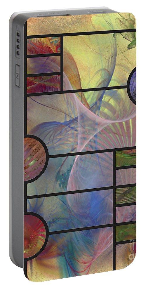 Desert Blossoms Portable Battery Charger featuring the digital art Desert Blossoms by John Beck
