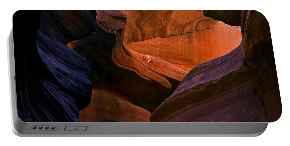 Sandstone Portable Battery Charger featuring the photograph Desert Bridge by Mike Dawson