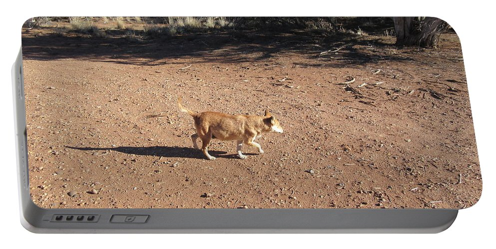 Desert Portable Battery Charger featuring the photograph Desert Dog by Frederick Holiday