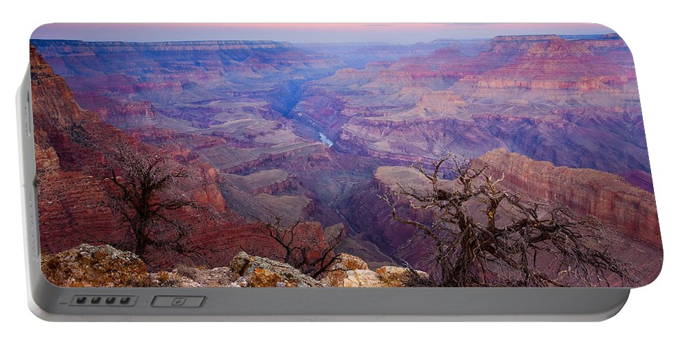 Dawn Portable Battery Charger featuring the photograph Desert Glow by Mike Dawson