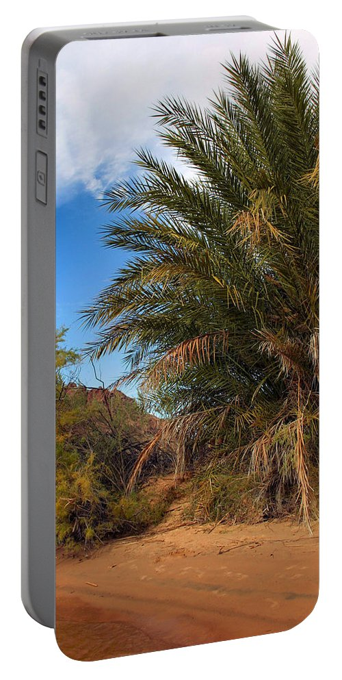 Desert Portable Battery Charger featuring the photograph Desert Isle by Kristin Elmquist