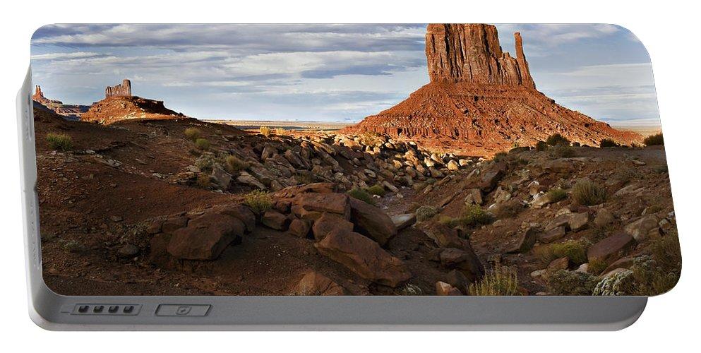 Desert Portable Battery Charger featuring the photograph Desert Mitten by John Christopher
