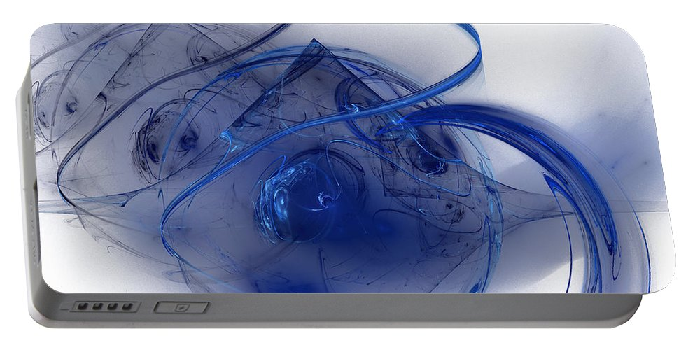 Desert Portable Battery Charger featuring the digital art Desert Moon by Emilio Pacheco