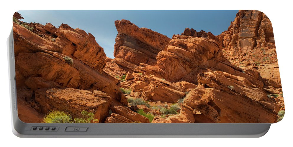 Landscape Portable Battery Charger featuring the photograph Desert Paradise by Frank Wilson