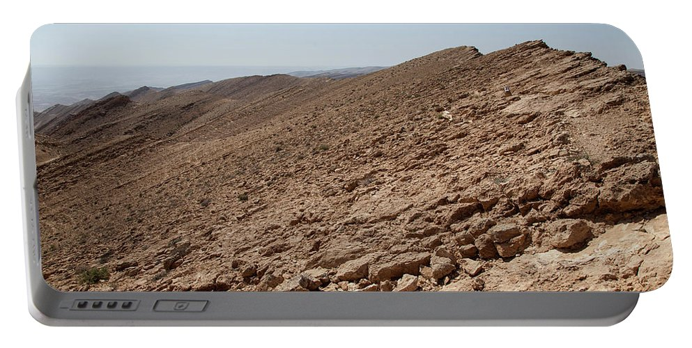 Rock Portable Battery Charger featuring the photograph Desert Rock by Yoel Koskas