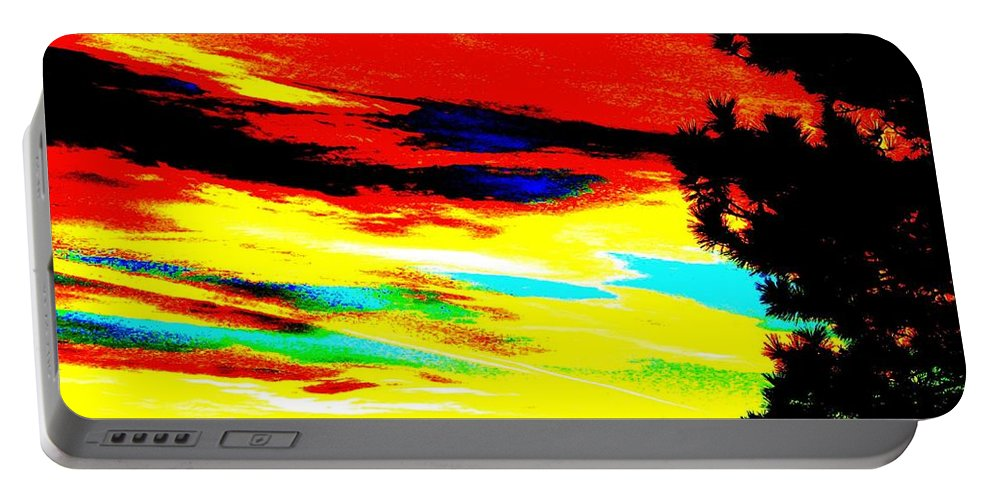 Abstract Portable Battery Charger featuring the digital art Desert Sky by Will Borden