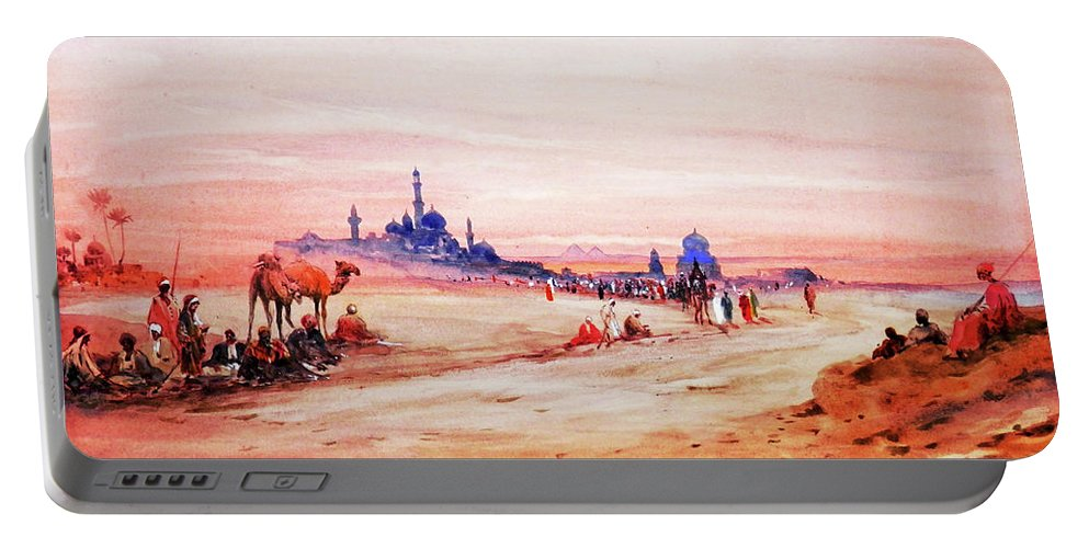 Desert Portable Battery Charger featuring the photograph Desert View by Munir Alawi