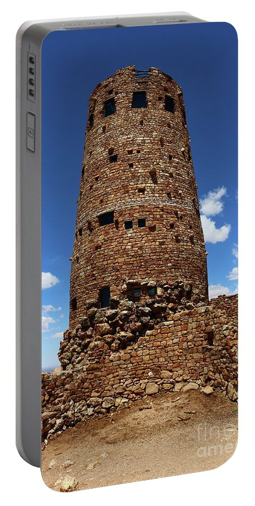 Cape Final Portable Battery Charger featuring the photograph Desert View Watchtower At Grand Canyon by Christiane Schulze Art And Photography