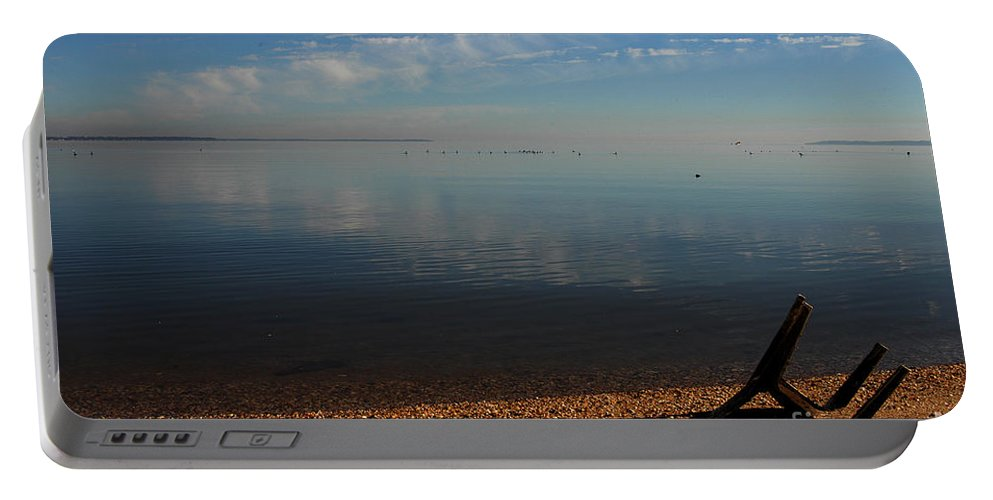 Clay Portable Battery Charger featuring the photograph Deserted Beach by Clayton Bruster