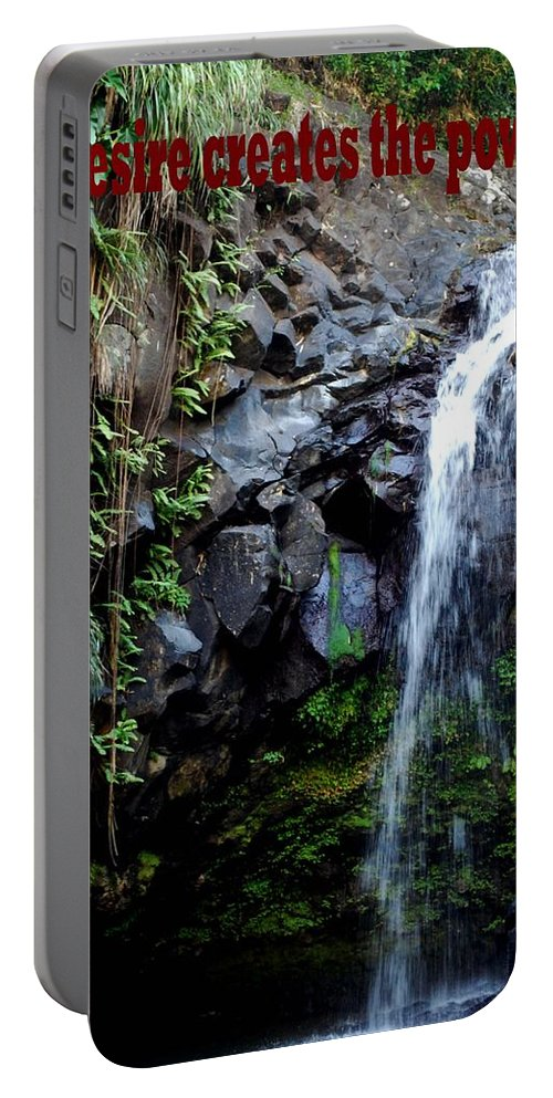 Warterfall Portable Battery Charger featuring the photograph Desire by Gary Wonning