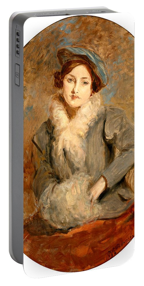 Jacques-emile Blanche Portable Battery Charger featuring the painting Desiree Manfred by Jacques-Emile Blanche