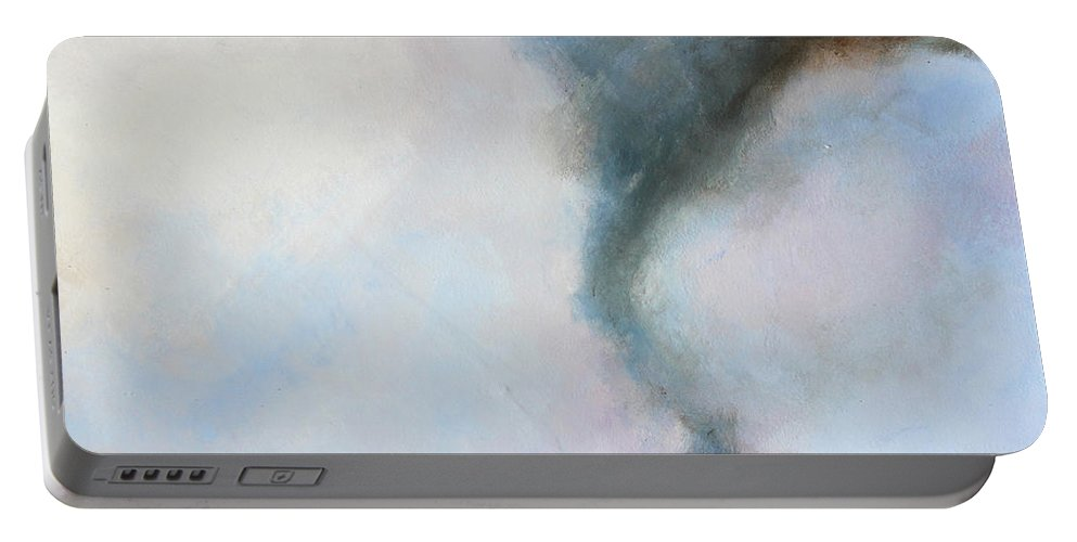 Tornado Portable Battery Charger featuring the painting Desolate Tornado by Toni Grote