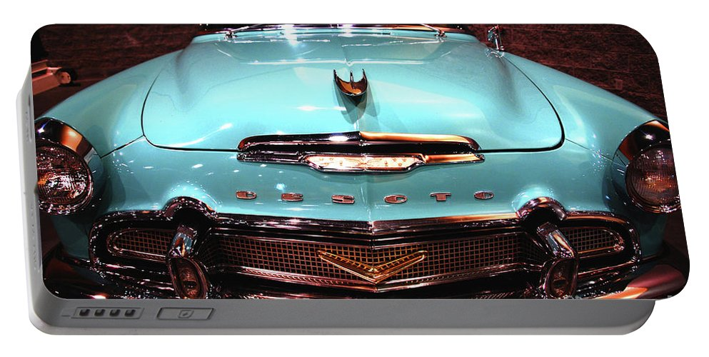 Car Portable Battery Charger featuring the photograph Desoto - Mio Amor by Susanne Van Hulst
