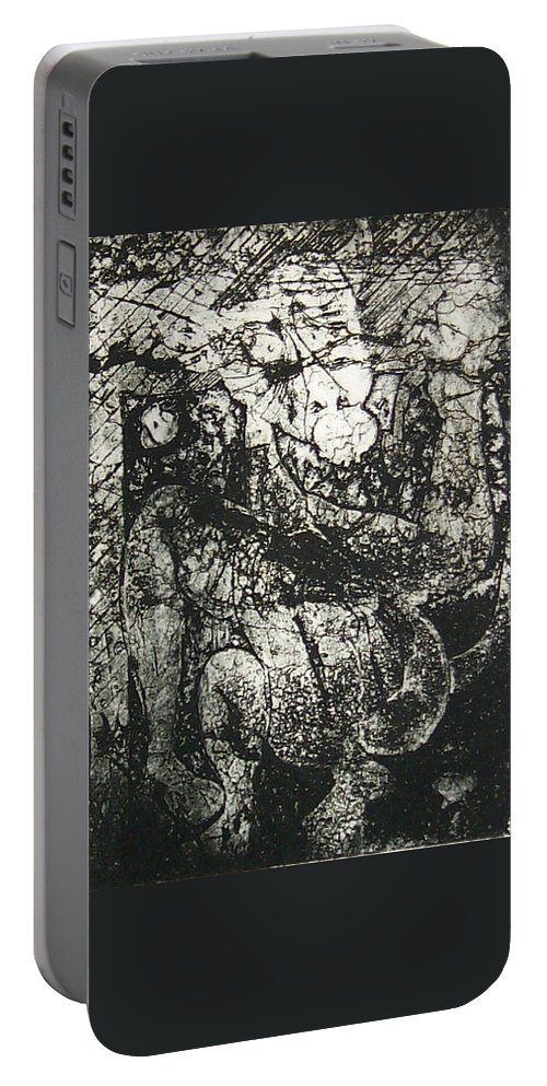 Etching Portable Battery Charger featuring the print Destroy Plate by Thomas Valentine