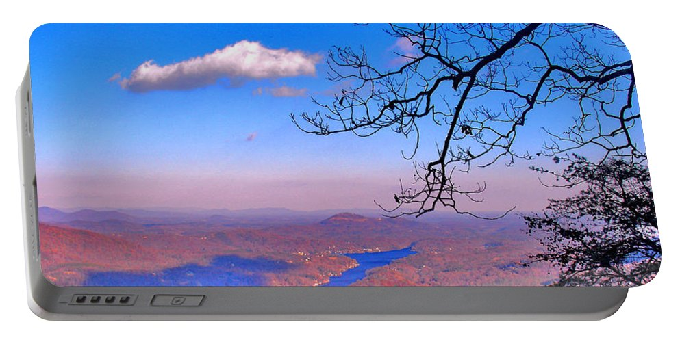 Landscape Portable Battery Charger featuring the photograph Detail From Reaching For A Cloud by Steve Karol