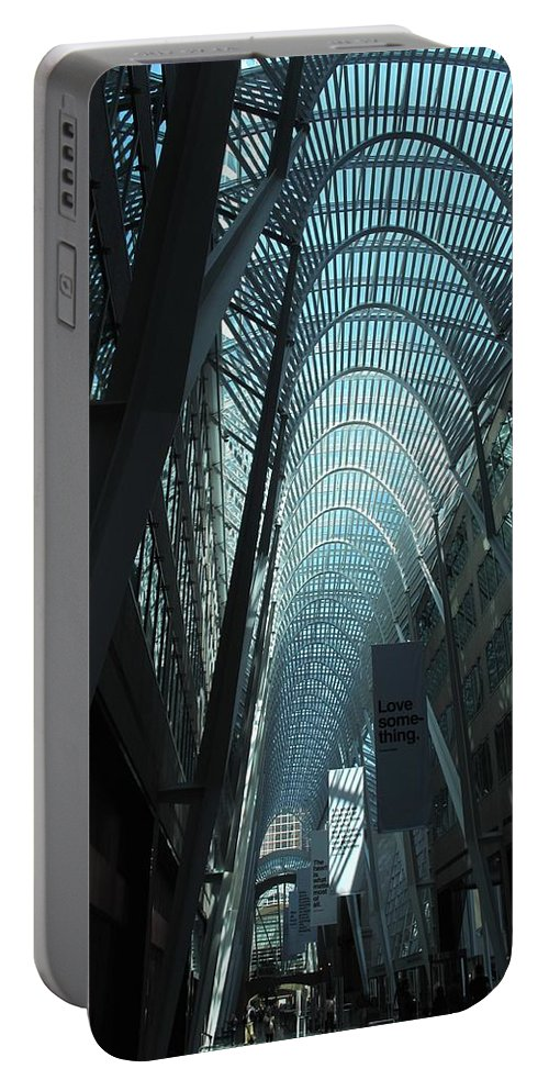 Skylight Portable Battery Charger featuring the photograph Detail by Ian MacDonald