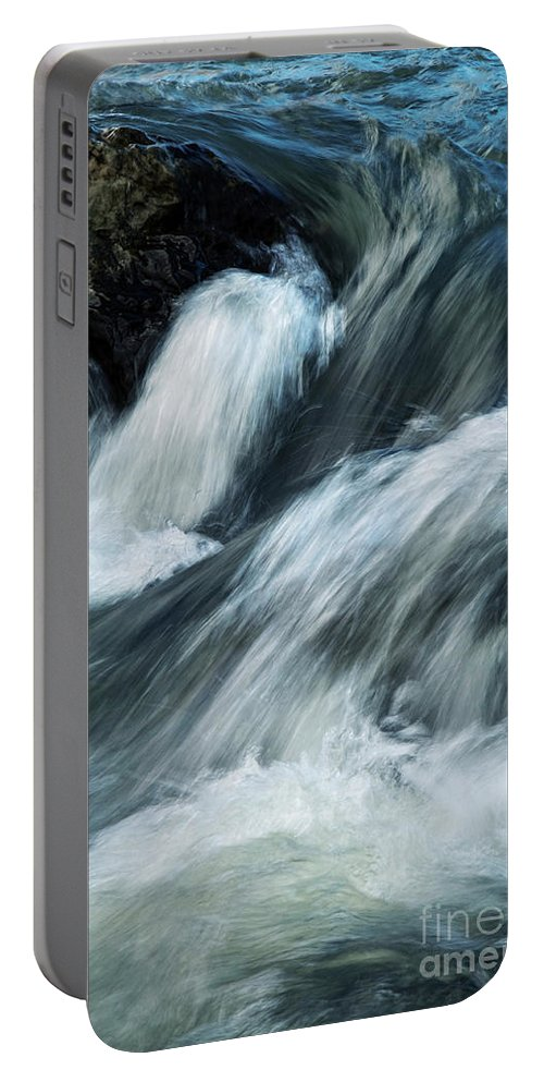Background Portable Battery Charger featuring the photograph Detail Of Wild Rapid Water by Jozef Jankola