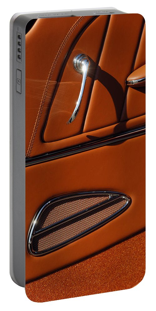 Deucenberg Portable Battery Charger featuring the photograph Deucenberg Hot Rod Interior Door by Jill Reger