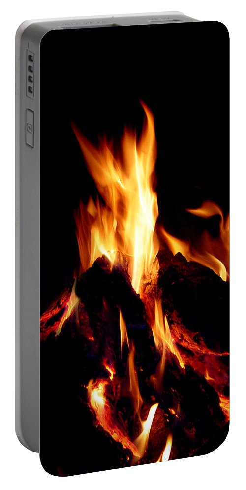 Devil Portable Battery Charger featuring the photograph Devil Fire by Peter Piatt