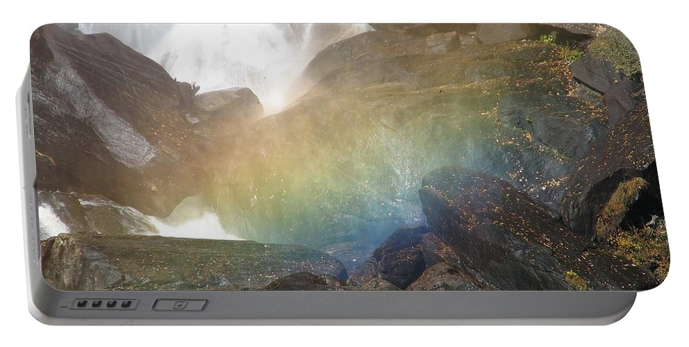 Devil's Fork Portable Battery Charger featuring the photograph Devil's Rainbow by Kelly Mezzapelle