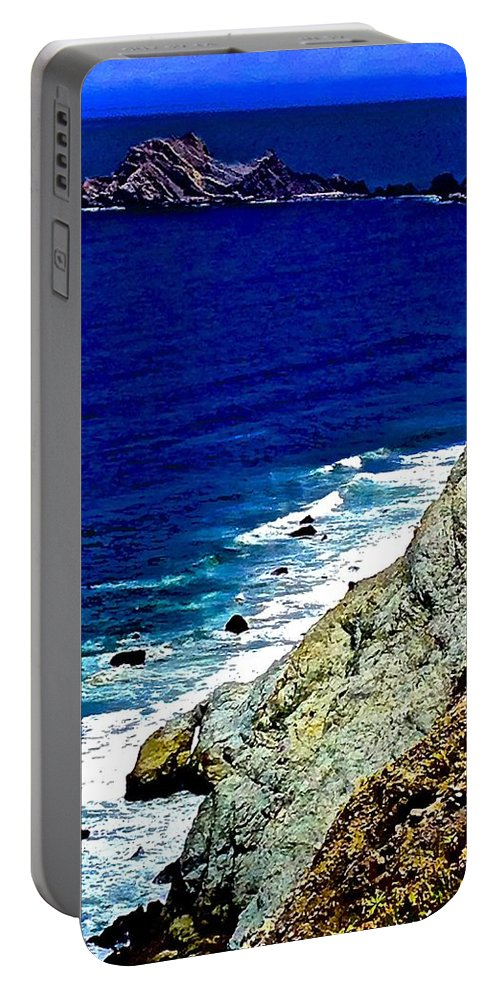 Devil's Slide Gray Rock Portable Battery Charger featuring the photograph Devil's Slide Gray Rock by Scott L Holtslander