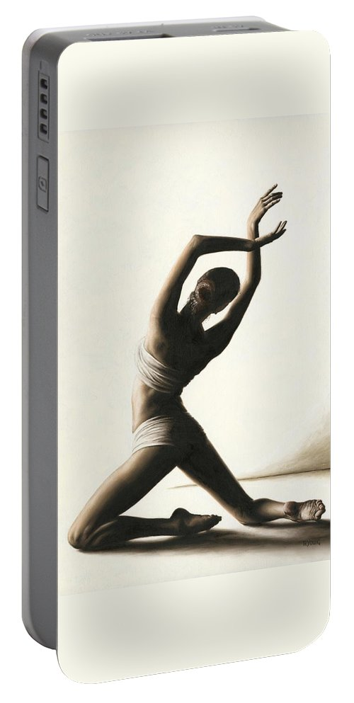 Dancer Portable Battery Charger featuring the painting Devotion to Dance by Richard Young