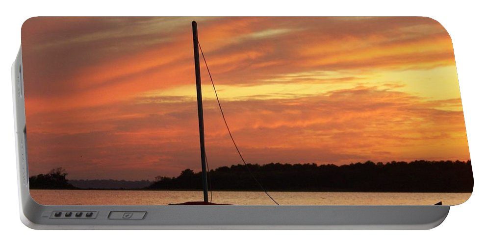 Beach Portable Battery Charger featuring the photograph Dewey Bay by Trish Tritz
