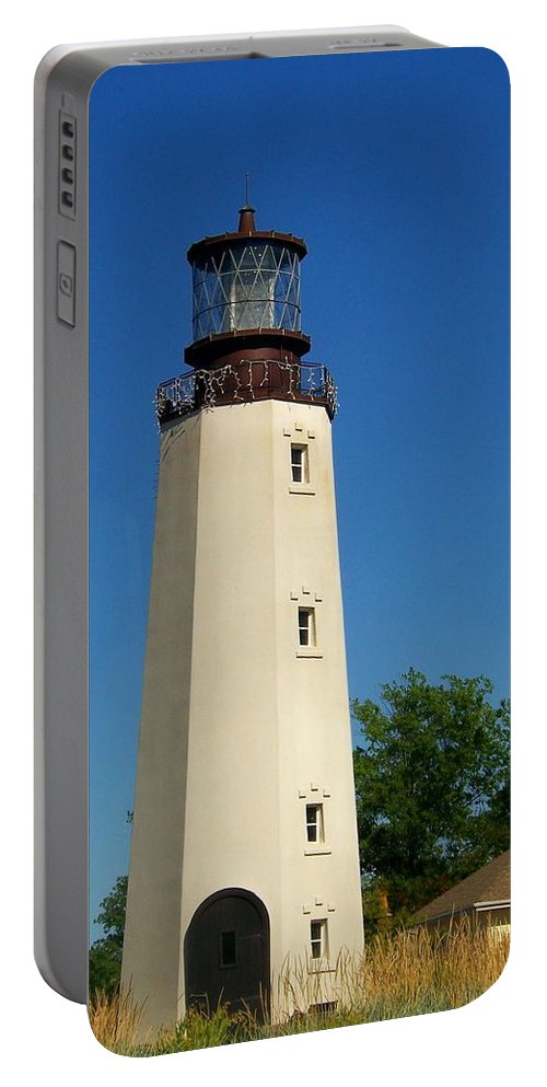 Lighthouse Portable Battery Charger featuring the photograph Dewey Beach Lighthouse by Trish Tritz