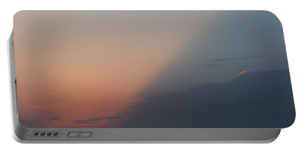 Sun Portable Battery Charger featuring the photograph Diagonal Sunset by Betty Northcutt