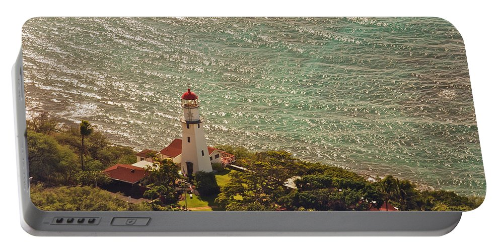 Landscape Portable Battery Charger featuring the photograph Diamond Head Lighthouse by Michael Peychich