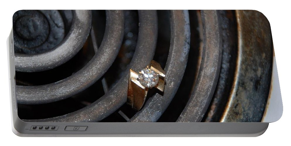 Gold Portable Battery Charger featuring the photograph Diamond Rings by Rob Hans