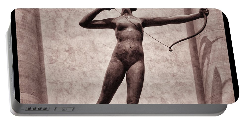 Madison Square Garden Portable Battery Charger featuring the photograph Diana - Goddess Of Hunt by Bill Cannon