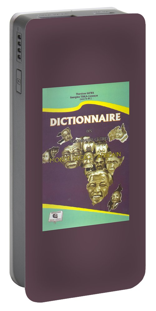 Dictionary Portable Battery Charger featuring the painting Dictionary Of Negroafrican Celebrities 1 by Emmanuel Baliyanga
