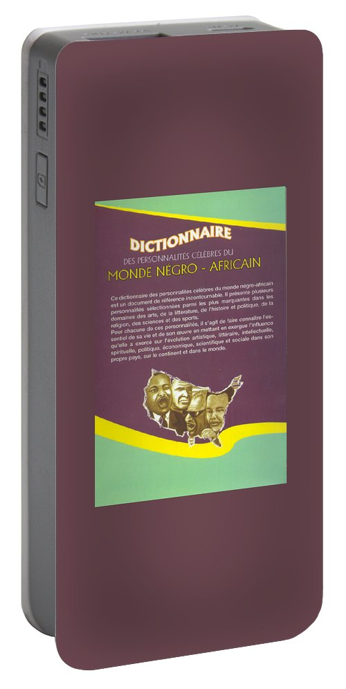 Dictionary Portable Battery Charger featuring the painting Dictionary Of Negroafrican Celebrities 2 by Emmanuel Baliyanga