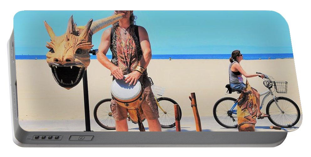 Didgeridoo Portable Battery Charger featuring the photograph Didgeridoo by David A Litman